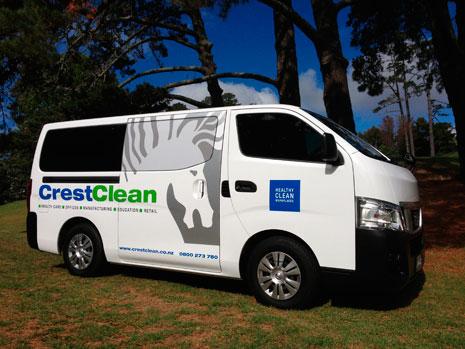 best van in the fleet crestclean. Black Bedroom Furniture Sets. Home Design Ideas