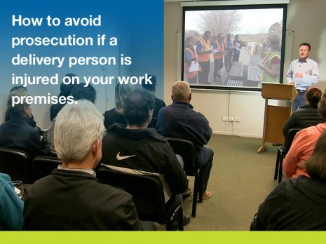 How to avoid prosecution if a delivery person is injured on your work premises