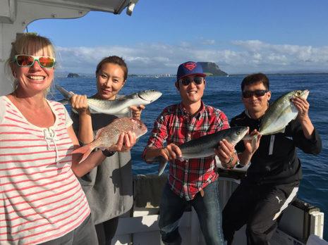 Eva Gordon, Christina Yoon, Woo-Sung Lee and Rudy Yoon enjoyed a day out fishing.