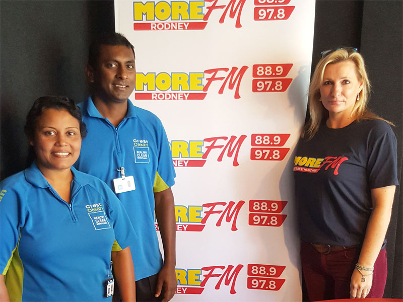 Naresh and Radhna Mani have made a big impression with Anna McGovern at MediaWorks.
