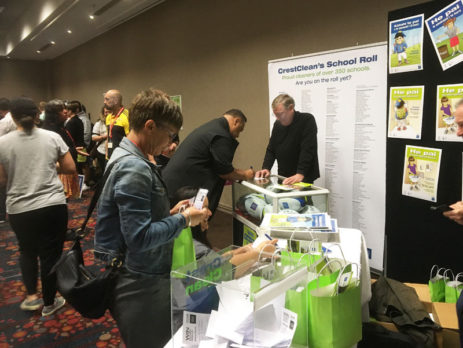 The CrestClean stand was buzzing at the Te Akatea Maori Principals Conference in Rotorua.