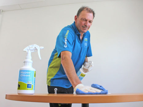 HyperClean is a highly-effective cleaner that neutralises germs in a single step.