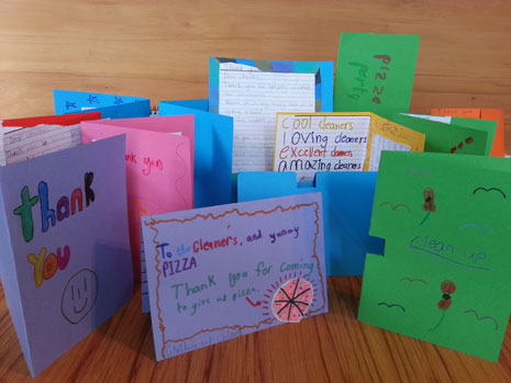 Some cards from the very appreciative kids in Room 16