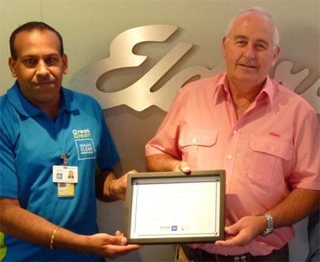 Pictured is Elders Managing Director Stu Chapman with franchisee Kamal Jeet Singh