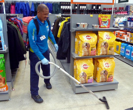 Pictured is franchisee Harry Ficks hard at work vacuuming at RD1