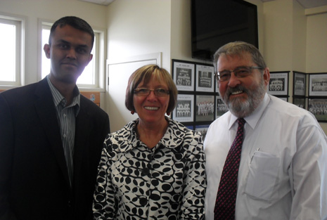 Pictured: Neil Kumar - CrestClean Whangarei and North Harbour Regional Director, Lil Ruffle - Principal of Whangarei Heads Primary and President of WPPA, and Bruce Crawford - Principal of Hikurangi School.