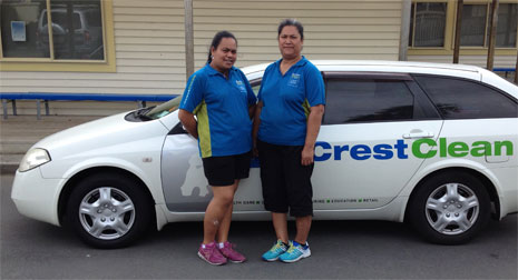 Pictured are Lucy Viliamu and Mel Tausi