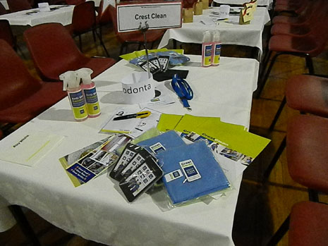 One of CrestClean's special sponsored tables at Hampden Street School's annual Quiz Night fundraiser.