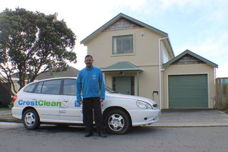 Wellington CrestClean Franchisee Nityanand Sharma at his new home.