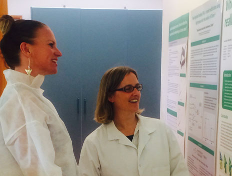 Hawkes Bay Regional Director Abby Latul on site at Analytical Research Laboratories with manager Rebecca Withnall.