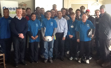 CrestClean's dedicated and hardworking North Harbour team.