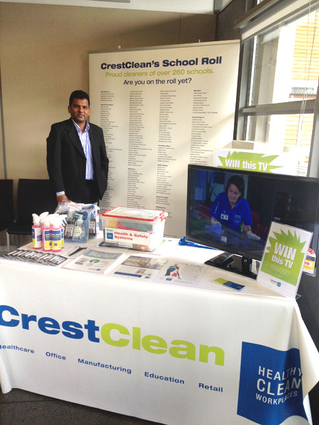 Lots of cool CrestClean products were given away by at the MPA Conference, including a new TV.