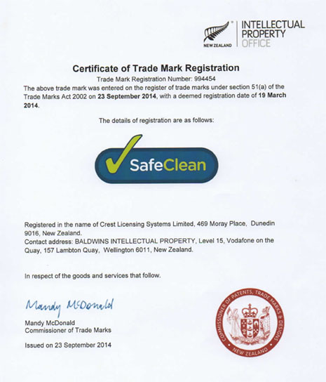 SafeClean Trade Mark Certificate Scan-465