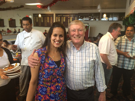 North Harbour Regional Director Rachel Kumar with Marty Perkinson, CrestClean's Chairman of Directors.