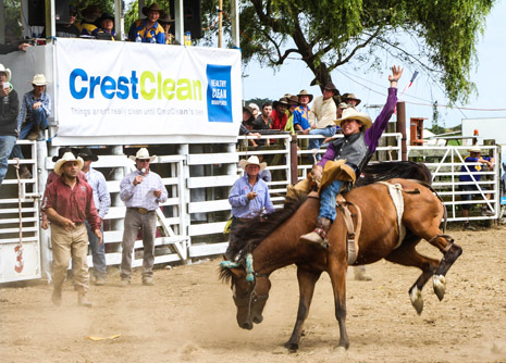 "It will be known as the ""CrestClean Opotiki Rodeo"" for the next three years due to support from Whakatane franchisees Geoff and Di Price."