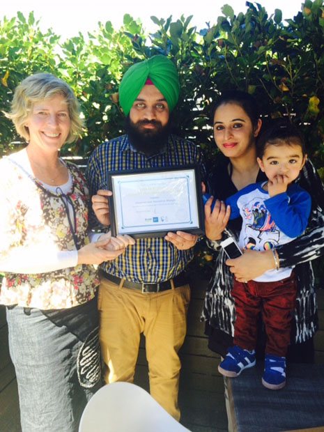 Harpreet and Amandeep Bhangu are an ambitious young family.