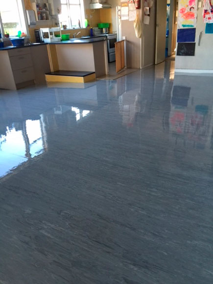 Nga Tamariki Early Childhood Centre management are thrilled with how shiny their polished floors look once they are professionally cleaned.