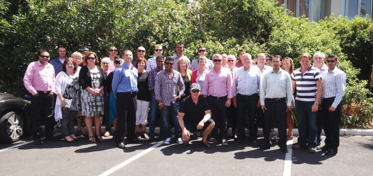 CrestClean Master Franchisees, Regional Managers, and key staff members at the 2015 Masters Convention held in Auckland in February.