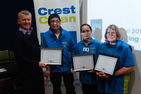 CrestClean Managing Director Grant McLauchlan presented a Certificate of Appreciation to Marciel and Martin De Guzman and Julie Cameron for helping franchisees Orland (Pictured next to Grant) and Desiree Cudal.