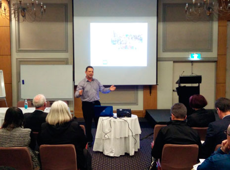 National Sales Manager Chris Barker presented at the conference.