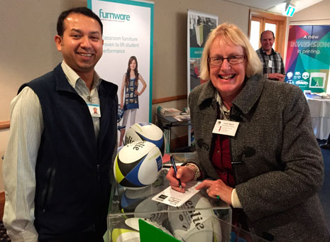 A Taranaki principal entered the draw to win rugby balls for their school.