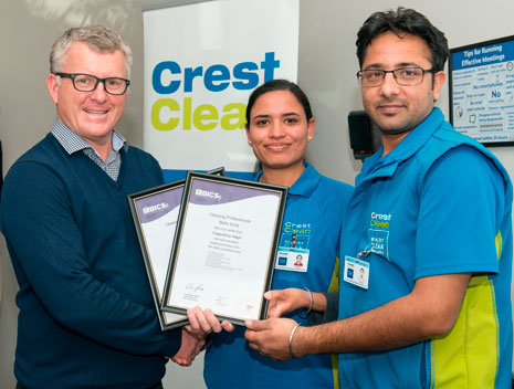 Gagandeep Singh and Rajbir Kahlon received their British Institute of Cleaning Science Cleaning Professional Skills Suite certificates.