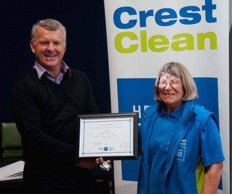 Grant McLauchlan presented Julie Cameron with her three year Long Service Award.