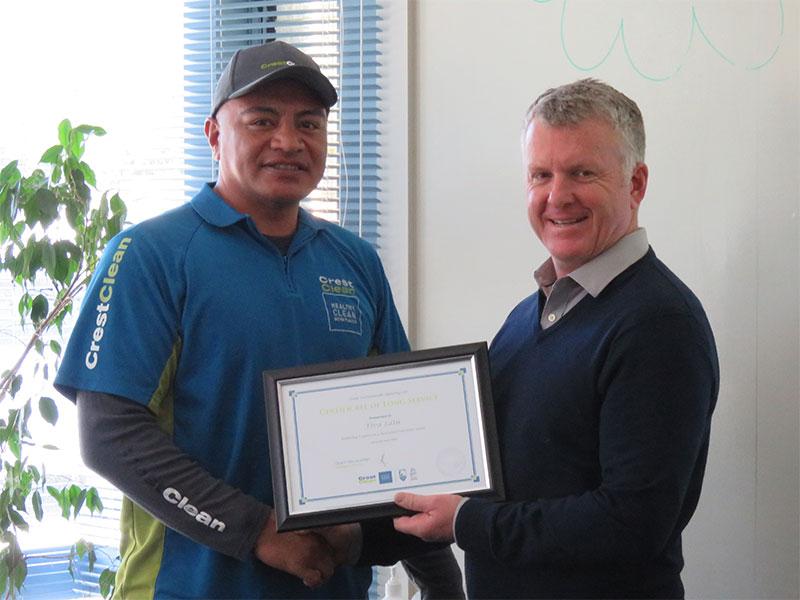 Fiva Latu received a five year Long Service Award.