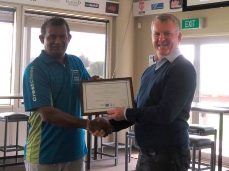 Gayaneshwar Raju was also awarded a Certificate of Excellence for his work at Silverdale Primary School.