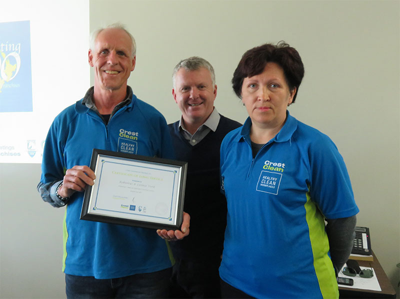 Rob and Liama Vork received their seven year Long Service Award.