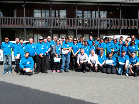 Rotorua, Taupo and Whakatane franchisees enjoyed the team meeting.