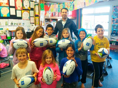 Weston School pupils will put the rugby balls to good use.