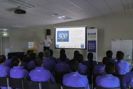 Team members were proud to be part of Crest's 500 Franchises celebrations.