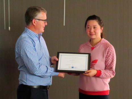 Kiko Li received her five year Long Service Award.
