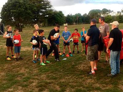 CrestClean LeslieRugby Junior Rugby Team Coaching Programme keeps kids moving and in rugby action for an hour of training.