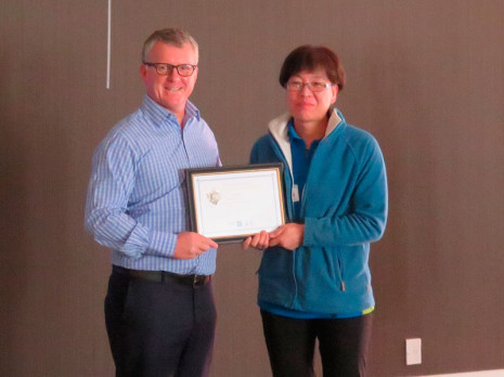 Chunhui (Crystal) Zhao received her 10 year Long Service award.
