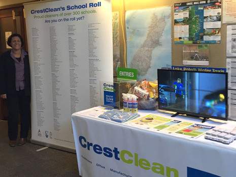 CrestClean's stand was popular at the conference.