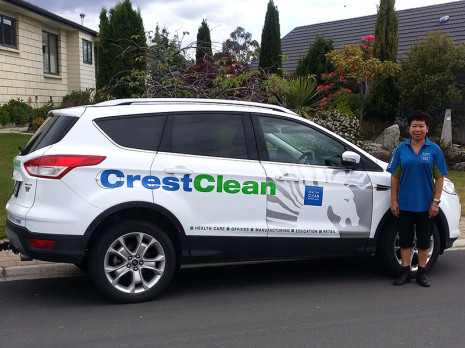 Central Otago franchisee Bev Hopgood is proud of her beautiful sign written Ford Kuga.