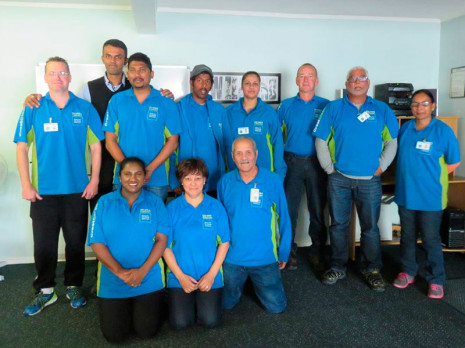 Whangarei Regional Manager Neil Kumar with his team of franchisees.