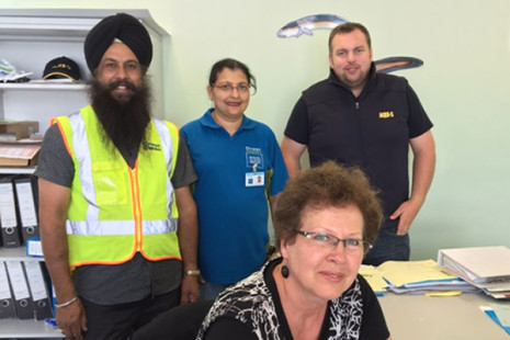 Aqui-S office administrator Olga Likhatcheva and Technical/Marketing Manager Nick Paton could not praise Hutt Valley franchisees Gurpal Singh and Rana Kaur enough.
