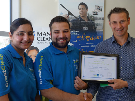 Navjot Noria and Mandeep Kamboj were named Tauranga's 2015 New Franchisee of the Year. They are pictured with Regional Manager Jan Lichtwark.
