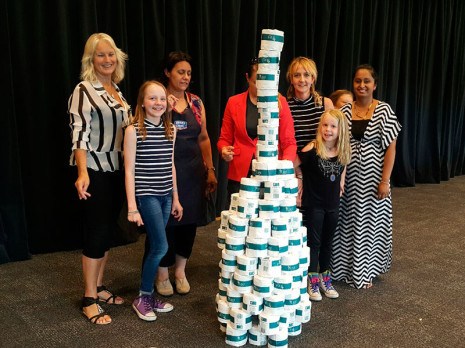 Nelson and Blenheim Franchisees had to try and build the tallest toilet paper tower.