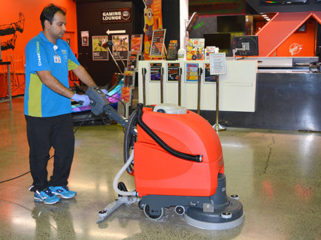 The auto scrubber machine is a cost effective and a productive method of cleaning and drying concrete floors.