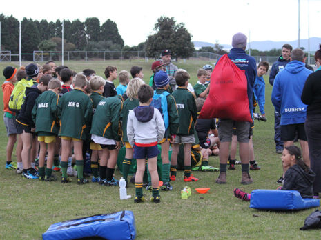 The final CrestClean LeslieRugby Junior Rugby Coaching Programme session was held at Mt Maunganui Sports Club.