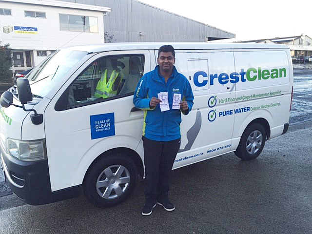 Nitij Maharaj can be proud of winning an award for having the cleanest vehicle