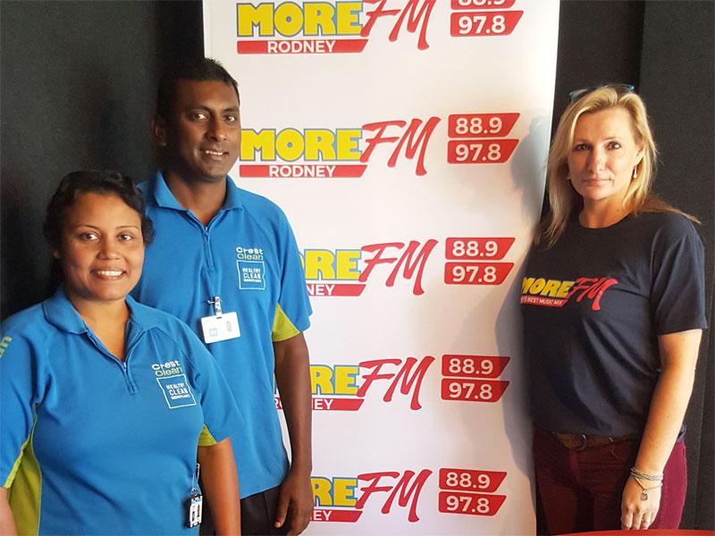 Naresh and Radhna Mani have made a big impression with Anna McGovern at MediaWorks.