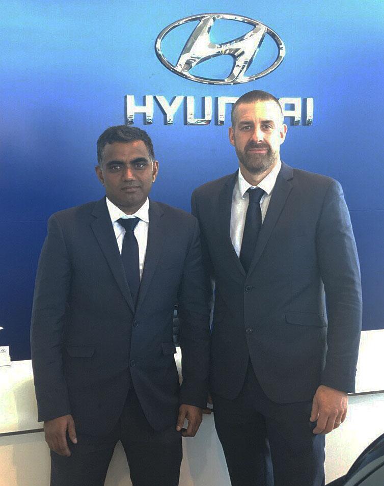 Lakshman Jetti works alongside Ingham Hyundai's Dealer Principal Euan Means.