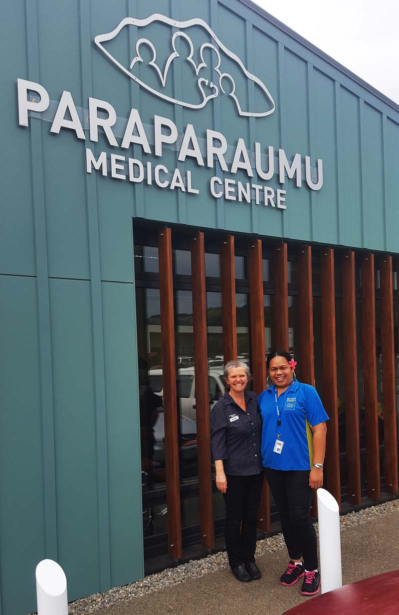 Paraparaumu Medical Centre Practice Manager Brenda McRae is delighted with franchisee Meleka Luli.