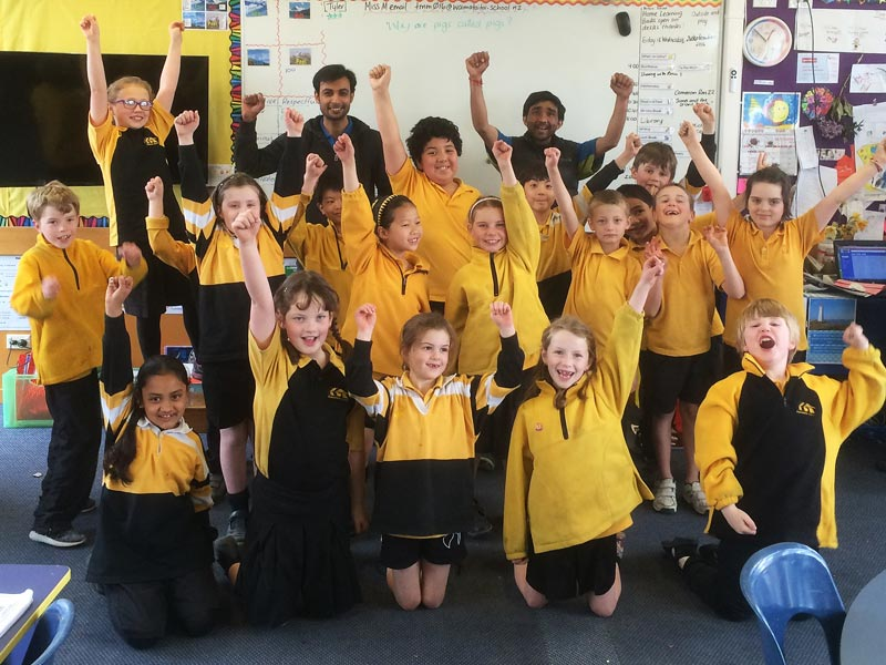 Franchisees Niraj and Kirti Patel work at the school and enjoy being part of the team.