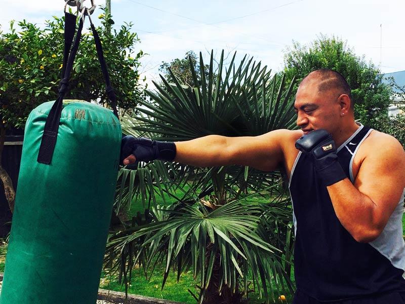 Fiva Latu lost 11kg in preparation for the charity fight.